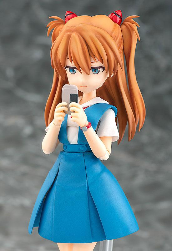Parfom R! Rebuild of Evangelion Asuka Langley Shikinami School Uniform Ver. Posable Figure 3