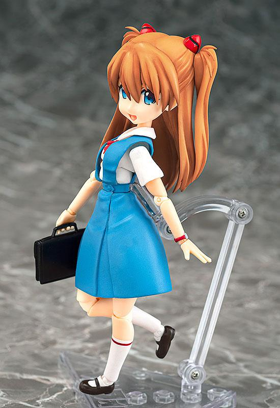 Parfom R! Rebuild of Evangelion Asuka Langley Shikinami School Uniform Ver. Posable Figure 2