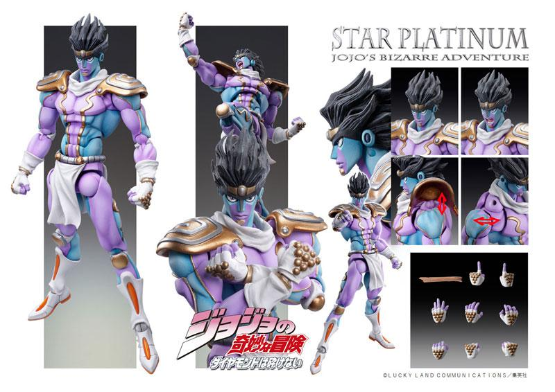 "Super Action Statue ""JoJo's Bizarre Adventure Part.IV"" Star Platinum Complete Figure 3"