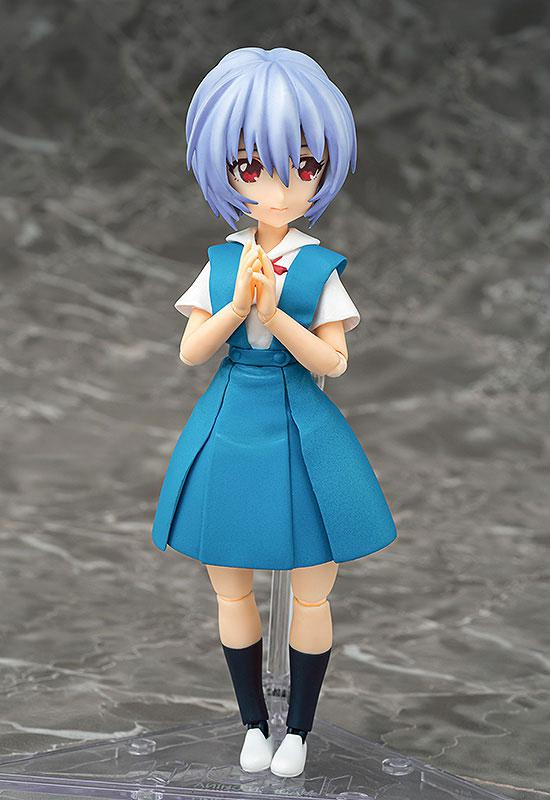 Parfom R! Rebuild of Evangelion Rei Ayanami School Uniform Ver. Posable Figure 0