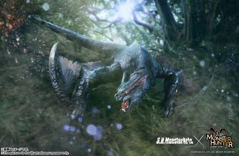 "S.H.MonsterArts Nargacuga ""Monster Hunter World: Iceborne"" product"