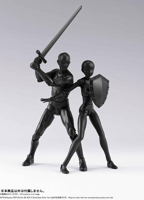 S.H.Figuarts Body-chan DX SET 2 (Solid black Color Ver.)