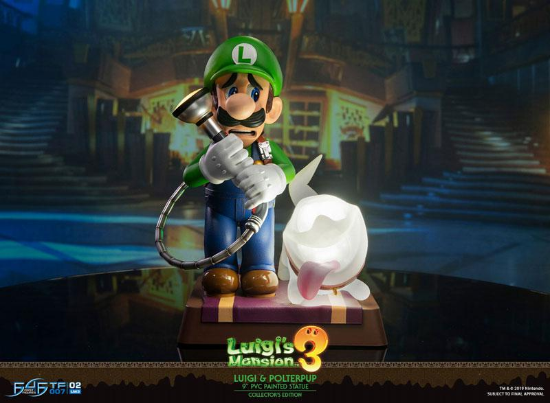 Luigi's Mansion 3/ Luigi 9 Inch PVC Statue Collector Edition 0
