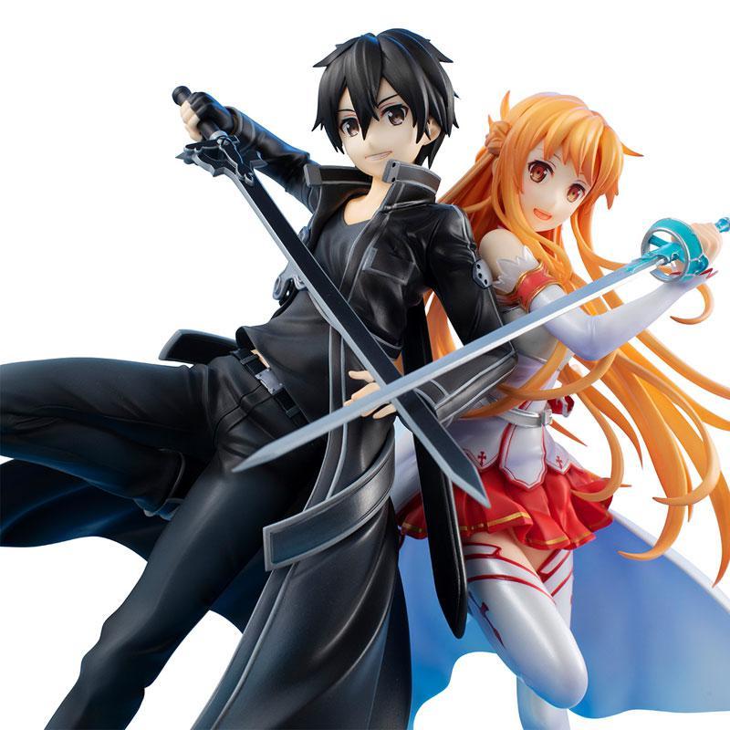 Lucrea Sword Art Online Kirito & Asuna SAO 10thAnniversary Complete Figure