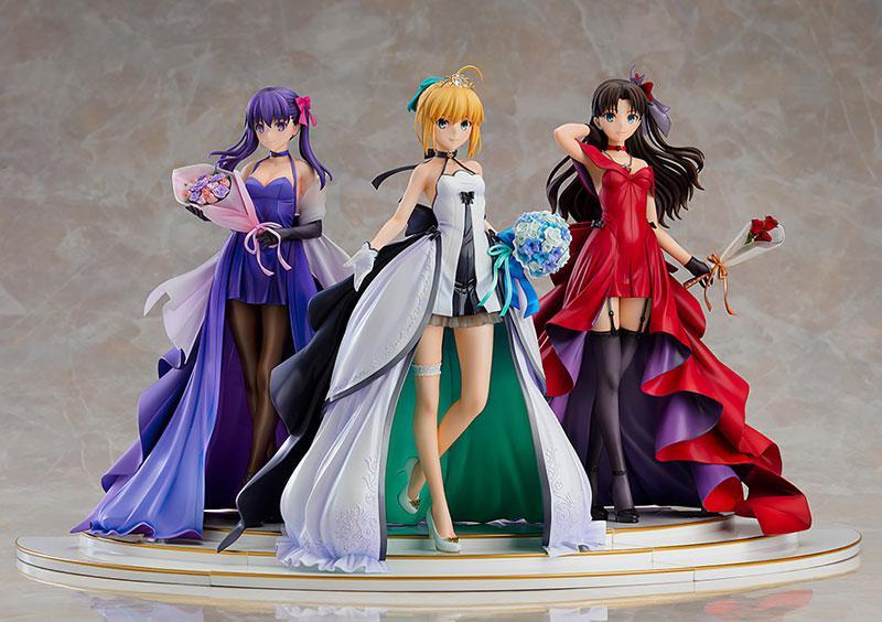 Fate/stay night Saber Rin Tohsaka Sakura Matou -15th Celebration Dress Ver.- Premium Box 1/7 Figure 0