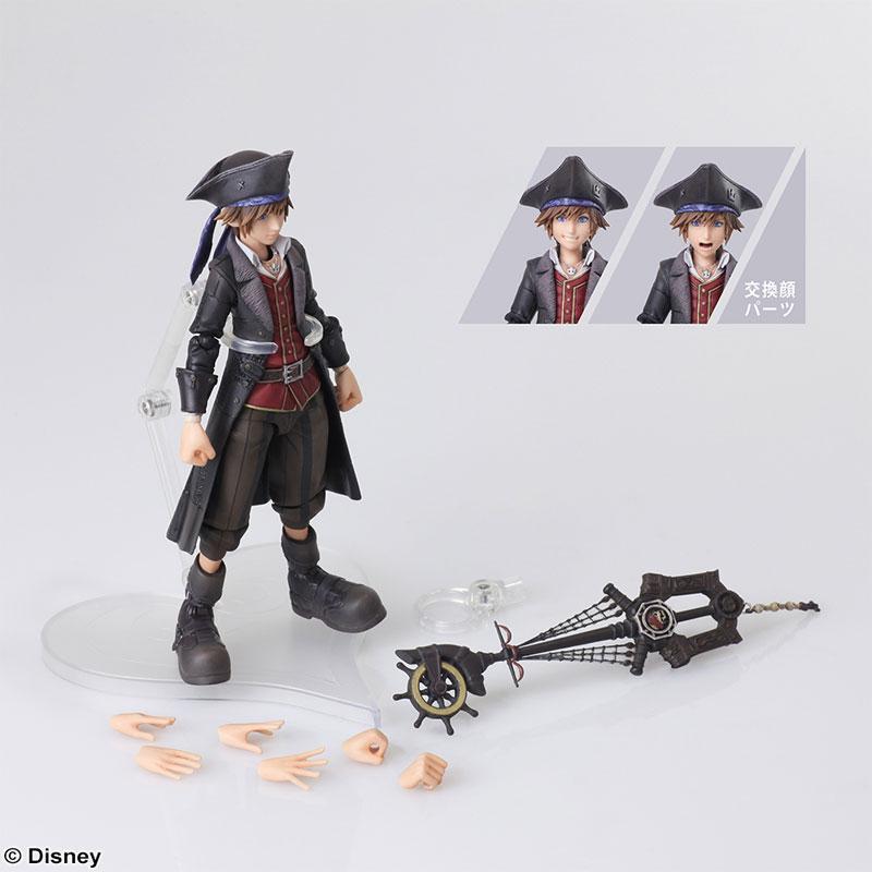 KINGDOM HEARTS III BRING ARTS Sora Pirates of the Caribbean ver. Action Figure