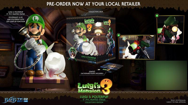 Luigi's Mansion 3/ Luigi 9 Inch PVC Statue Collector Edition 27