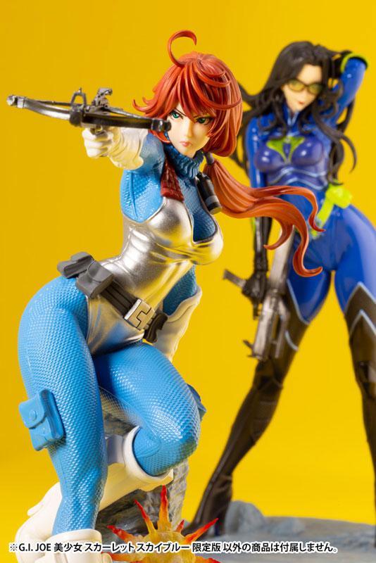 G.I. JOE Bishoujo Scarlett Sky-blue Limited Edition 1/7 Complete Figure 11