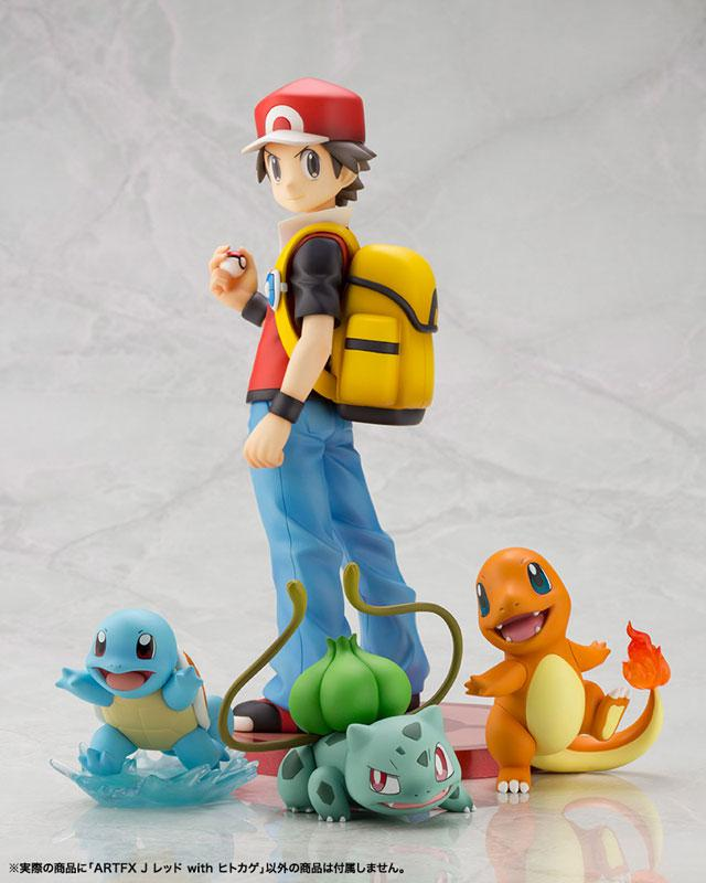 "ARTFX J ""Pokemon"" Series Red with Charmander 1/8 Complete Figure"