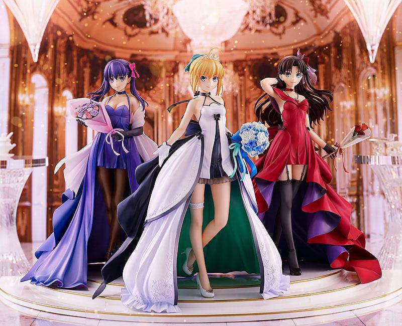 Fate/stay night Saber Rin Tohsaka Sakura Matou -15th Celebration Dress Ver.- Premium Box 1/7 Figure main