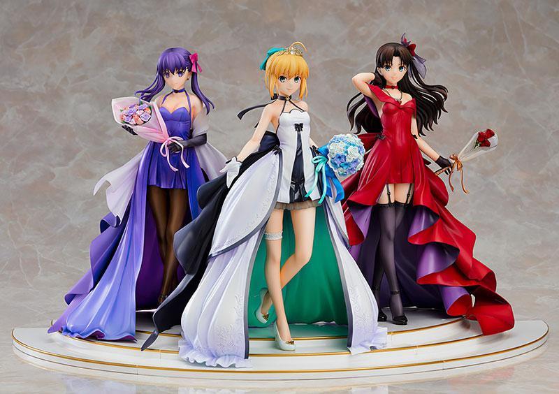 Fate/stay night Saber Rin Tohsaka Sakura Matou -15th Celebration Dress Ver.- Premium Box 1/7 Figure 1