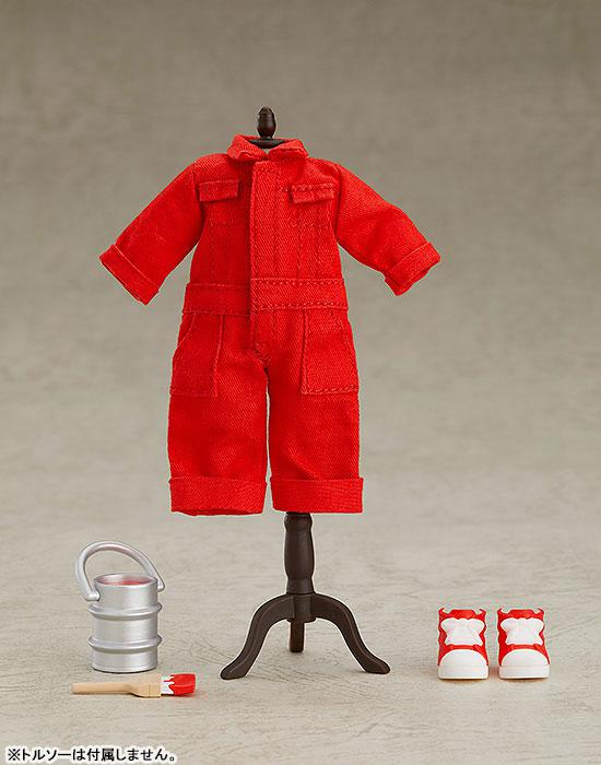 Nendoroid Doll Outfit Set (Colorful Coverall: Red) 0