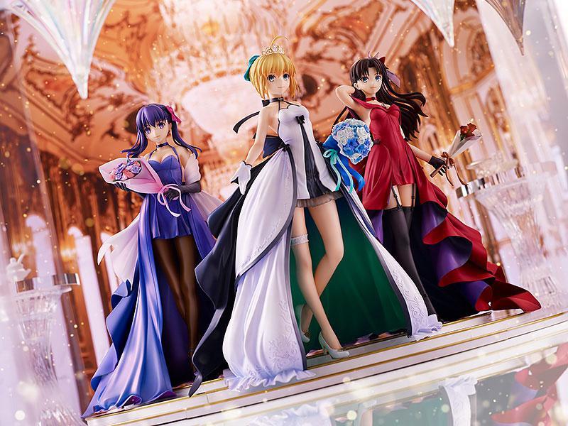 Fate/stay night Saber Rin Tohsaka Sakura Matou -15th Celebration Dress Ver.- Premium Box 1/7 Figure 4