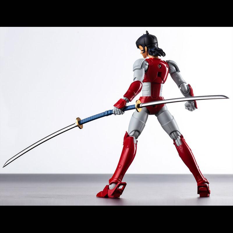 Choudan Kadou Ronin Warriors Ryo of the Wildfire Posable Figure 8