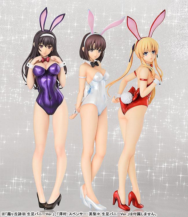 B-STYLE Saekano: How to Raise a Boring Girlfriend Flat Megumi Kato Bare Leg Bunny Ver. 1/4 Complete Figure 5