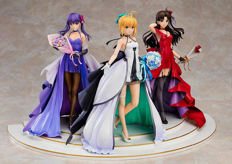 Fate/stay night Saber Rin Tohsaka Sakura Matou -15th Celebration Dress Ver.- Premium Box 1/7 Figure 2