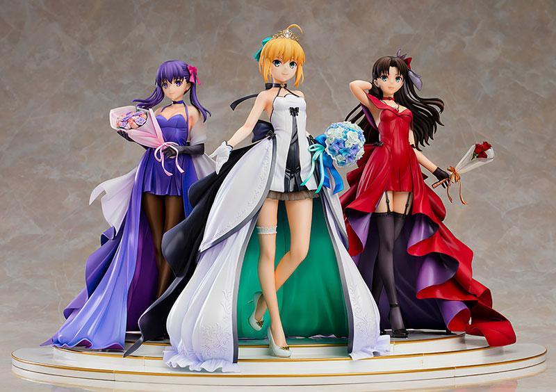 Fate/stay night Saber Rin Tohsaka Sakura Matou -15th Celebration Dress Ver.- Premium Box 1/7 Figure 3