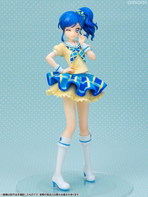 Lucrea Aikatsu! Aoi Kiriya Blue Stage Coord 1/7 Complete Figure main
