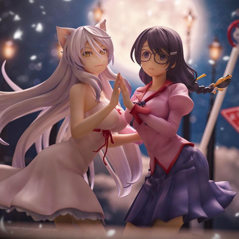 """""""Nekomonogatari"""" Tsubasa Hanekawa 2 Figures Set Complete Figure 0"""