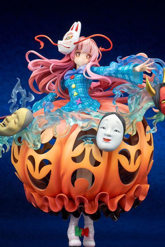 "Touhou Project ""The Expressive Poker Face"" Kokoro Hatano 1/8 Complete Figure 5"